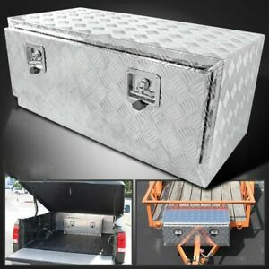 36 In Heavy Duty Aluminum Tool Box For Trailer home Storage Underbody W Lock