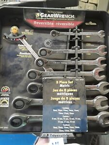 Gearwrench 8 Piece Metric Reversible Wrench Set