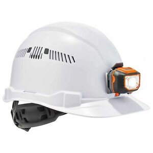Ergodyne Skullerz Vented Cap Style Hard Hat With Led Light White