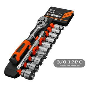 Ratchet Socket Wrench Hand Hex Quick Wrench Tooth Drive Release Set Repair Tool