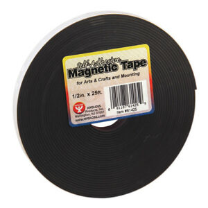 Hygloss Products Magnetic Tape 1 2x25 self Adhesive 3 Rl 61425