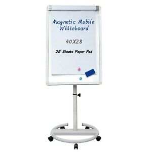 Mobile Dry Erase Board 40x28 Inches Magnetic Portable Whiteboard Stand Ease