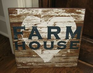 Heart Farm House Wood Wall Sign Primitive French Country Kitchen Farmhouse Decor