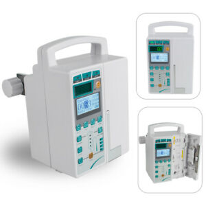 Infusion Pump Iv Fluid Device Voice Alarm Monitor Kvo Purge Patient Room Clinic