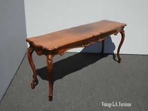 Vintage French Country Entry Table Console Side Table W Cabriole Legs