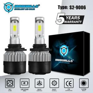 Ironwalls 9006 Hb4 Led Headlight Bulbs Kit Hi lo Beam 6000k 1800w 270000lm White