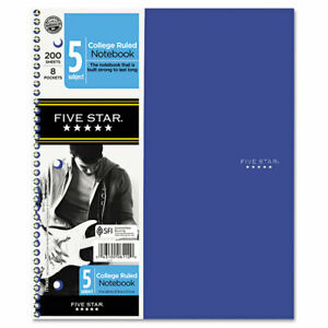 Five Star Trend Wirebound Notebooks College Rule 11 X 8 1 2 5 Subject 200 Sheets