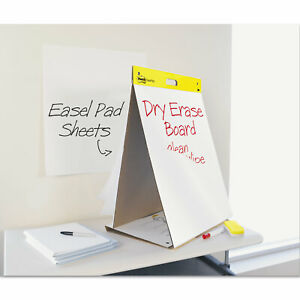 Post it Dry Erase Tabletop Easel Unruled Pad 20 X 23 White 20 Sheets 563de