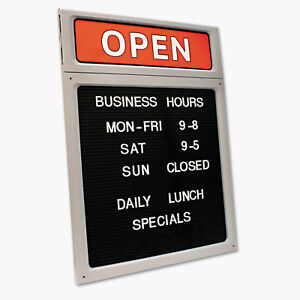Cosco Message business Hours Sign 15 X 20 1 2 Black red 098221