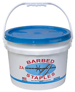 162837 8 gauge Barbed Fence Staples 2 in 50 lb Bucket Quantity 1