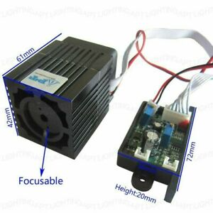532nm 12v 300mw Green Laser Module Focusable Ttl Continuous For Diy Lighting