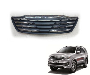 Fit Toyota Fortuner 2012 2014 2 4dr Front Grille Matte Black Chrome Line