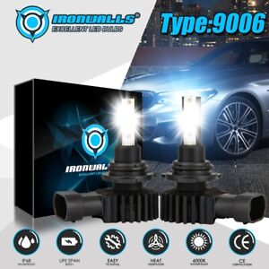 Ironwalls 9006 Hb4 Led Headlight Kits Fog Bulbs Hi low Beam 2400w 360000lm 6000k