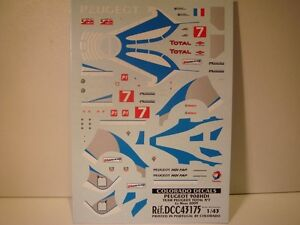 Decals 1/43 peugeot 908 hdi #7 le mans 2009-colorado 43175
