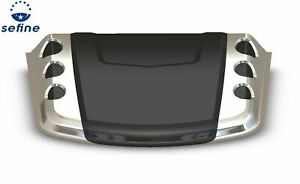 Avs 80012 Universal Blk W chrome Abs Thermoplastic Hood Scoop
