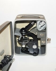 Leitz Sm pol Polarizing Microscope With Carrying Case