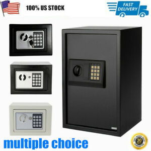 Electronic Safe Security Box Gun Money Home Hotel Office Wall Cabinet Durable