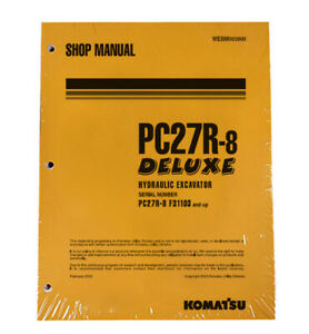 Komatsu Pc27r 8 Excavator Service Shop Repair Manual Part Number Webd003800