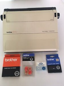 Vtg Brother Ax 10 Electric Typewriter Lift Off Tape Ink More Excellent