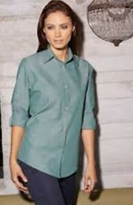 Urban Womens Chambray Shirt By Chef Works Slwch002 grm s Small