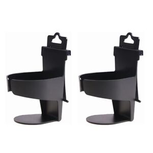 2 Pack Universal Car Truck Door Mount Drink Bottle Cup Holder Stand Black B302