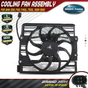 Radiator Cooling Fan Assembly W Motor 250w For Bmw E38 740i 740il 750il 96 98