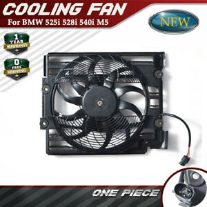 New A C Radiator Cooling Pusher Fan Electric Motor For 1999 2003 Bmw 5 Series M5