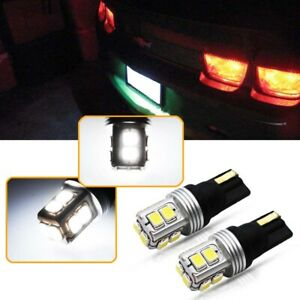 Can bus White 10 smd Led Bulbs License Plate Lights For 1998 2018 Chevy Camaro