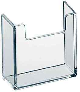 Vertical Business Card Attachment For Literature Displays Clear Acrylic Qty 40
