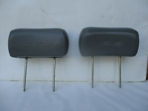 94 95 96 Chevy Impala Ss Driver Passenger Gray Leather Front Seat Head Rest Set