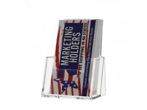 Vertical Business Card Holders Display Stand Acrylic Countertop Qty 60