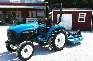 New Holland 1725 Tractor With New Tri 5 Ft Brush Hog shipping 1 85 Mile