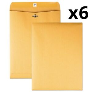 Clasp Envelope 90 Cheese Blade Flap Clasp gummed Closure 9 X 12 Brown