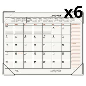 6 Two color Monthly Desk Pad Calendar 22 X 17 2020