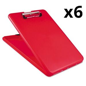 6 Slimmate Storage Clipboard 1 2 Clip Cap 8 1 2 X 11 Sheets Red