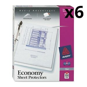 6 Top load Sheet Protector Economy Gauge Letter Clear 100 box