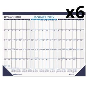 Three Month Desk Pad Calendar 22 X 17 2019 2021 Pack Of 6