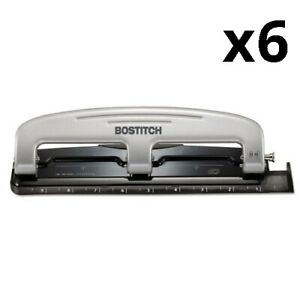 12 sheet Inpress 12 Three hole Punch Black silver Pack Of 6