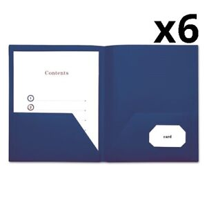 Two pocket Plastic Folders 11 X 8 1 2 Royal Blue 10 pack Pack Of 6
