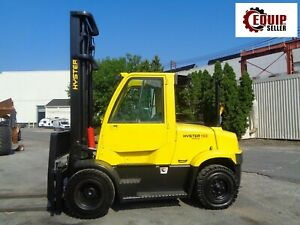2008 Hyster H155ft 15 000 Lbs Forklift Boom Truck Enclosed Cab diesel