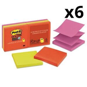 6 Pack Of Pop up 3 X 3 Note Refill Marrakesh 90 Notes pad 6 Pads pack