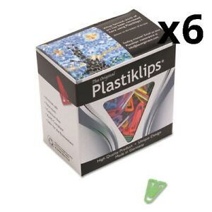 Plastiklips Paper Clips Small Assorted Colors 1 000 box Pack Of 6