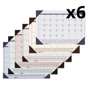 Recycled Ecotones Ocean Blue Monthly Desk Pad Calendar 22 X 17 2020 Pack Of 6