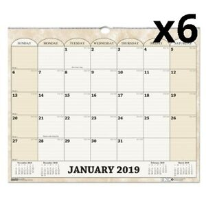 Recycled Monthly Horizontal Wall Calendar 14 7 8 X 12 2020 Pack Of 6
