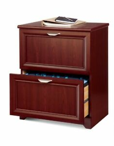 Realspace Magellan Collection Lateral File Cabinet 2 Drawers Classic Cherry