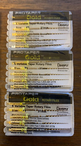 3 X Dentsply Protaper Gold Files Assorted F1 31mm