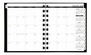 At a glance Move a page Weekly monthly Planner 8 75x11 Black Jan dec 2020