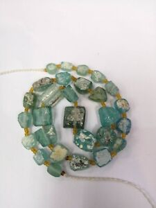 Ancient Roman Glass Beads Square Mixed Size For Necklace Roman Glass Beads