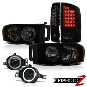 2002 2005 Dodge Ram 1500 3 7l Headlights Clear Chrome Fog Lights Taillamps Smd