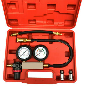 Cylinder Leak Down Tester Leakage Leak Detector Engine Compression Tester Gauge